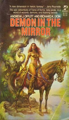 BORIS VALLEJO - The Demon In the Mirror by Richard K. Lyon & Andrew J. Offutt - 1978 Pocket Books