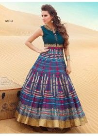 42e204a0faebe Rozdeal Latest Blue Pure Bhagalpuri Designer Gown