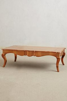 Copper wrapped coffee table