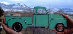 1950 Chevy Pick-up. If it can be done in stained glass surely I can fuse that!