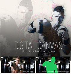 Digital Canvas #photoshop #action