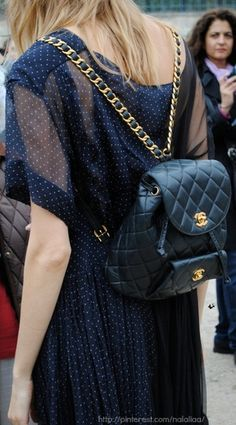 On my shopping list @CHANEL luxury backpack... #thewrittengarment #musthave