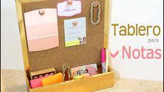 DIY | Tablero de Corcho | Organizador de Notas para Escritorio Ɩ Regreso... Magazine Rack, Diy, Storage, Youtube, Chill, Home, Memo Boards, Large Cork Board, Tack Board