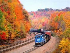 trenin sonbahar yolculuğu