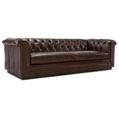 "BARRYMORE 94"" LEATHER SOFA"