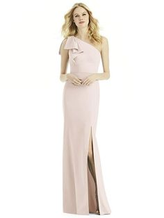 After Six Bridesmaid Dress 6769 in Blush. From Dessy Group