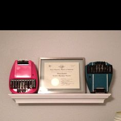 Vintage steno machines for my office I painted