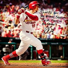 """Thanks for a great season! Best fans in baseball.""  - Jon Jay"