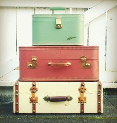 vintage suitcases @Nora Sullivan