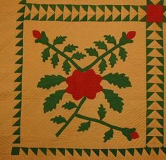 Detail ~ Applique Quilt: Circa 1870; Lancaster County, Pa.