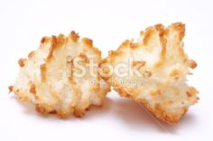 two coconut macaroons Royalty Free Stock Photo