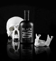 Blackout Booze Branding - The 'Black Vodka' Packaging Features Amnesia-Inducing Designs