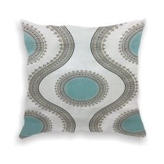 Turquoise Decorative Throw Pillow Accent by dearsweetrosedesigns