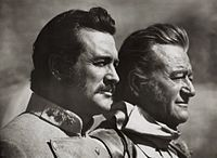 John Wayne and Rock Hudson- The Undefeated. Great movie, and very exciting.