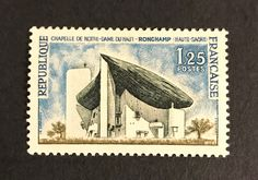 #UNESCO World Heritage #stamps #France 🇫🇷🇫🇷🇫🇷 The Architectural Work of Le #Corbusier, an Outstanding Contribution to the Modern Movement #Ronchamp