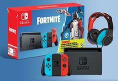 Nintendo Switch with Neon Blue and Neon Red Joy-Con - Nintendo Switch Console - Ideas of Nintendo Switch Console - VoltEdge Fortnite Switch Bundle Sweepstakes Switch Nintendo Switch Nintendo for sales Enter to win a Nintendo Switch Fortnite Bundle Buy Nintendo Switch, Nintendo Switch System, Nintendo Switch Accessories, Pc Gaming Setup, Playstation Portable, Xbox One Games, Entertainment, Super Smash Bros, Consoles