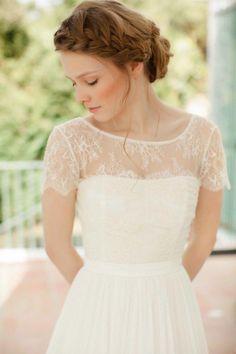 SADONI top NELL lace insert top (www sadoni no) is part of Wedding - Bohemian Wedding Dresses, Modest Wedding Dresses, Wedding Gowns, Wedding Dress Sleeves, Wedding Dress Bolero, Wedding Beauty, Wedding Attire, Pretty Dresses, Wedding Styles
