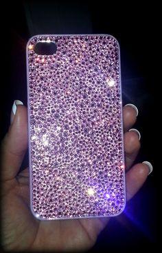 Baby Pink Swarovski iPhone 4 Case, Bling iPhone 4 case, Swarovski iPhnoe cover, iPhone bling case, Rhinestones case, Crystal phone case. $100.00, via Etsy.