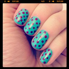 Dotted nails using @Julie Pritchard Diana and Bette