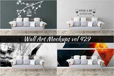 Wall Mockup - Sticker Mockup Vol 429 by Creative Interiors on @creativemarket