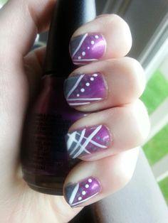 Purple love nail design by Kayla W.
