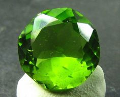Peridot Very Large RARE Size ARIZONA 15 mm Round Green Gem USA Buy Now Bargain   #JewelsRoughGems