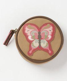 Look at this #zulilyfind! Butterfly Round Jasmine Coin Purse #zulilyfinds