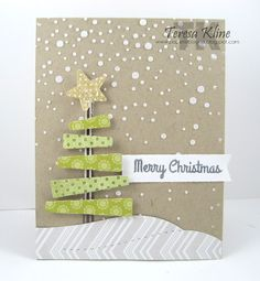 Merry Christmas by Teresa Kline using Simon Says stamp Exclusives.