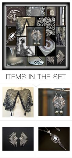 Decadence by andreadawn1 on Polyvore featuring art, vintage, etsy, blackandwhite and handmade