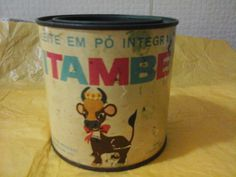 lata de leite itambe com tampa antiga de 1972