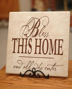 Bless This Home Tile  Vinyl by dornondesigns on Etsy, $15.00