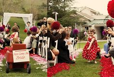 Wedding Ideas : Flower Girl Ideas - Two Flower Girls and a Wagon!