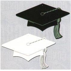 Graduate Cap Silhouettes