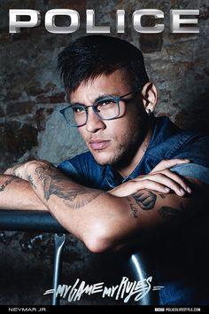 Brazilian footballer Neymar Jr has been unveiled as the face of Police's new Optical range...