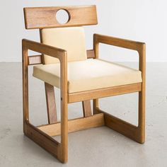 Sergio Rodrigues; Caviona and Leather 'Cuiabá' Armchair, 1985.