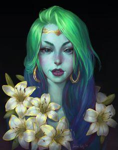 Nereida, Junica Hots on ArtStation at https://www.artstation.com/artwork/GKqOW