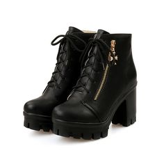 VogueZone009 Womens Round Closed Toe Blend Materials Low-Top Solid Boots >>> Be sure to check out this awesome product.