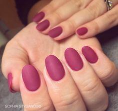 Burgundy matte nails by Sophia Stylianou | www.sophiastylianou.com