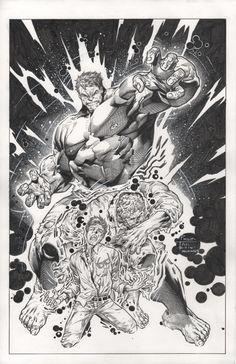 Philip Tan/Mark Morales Hulk Transformation, in Raz M's Original Art Comic Art Gallery Room Hulk Artwork, Cool Artwork, Hulk Marvel, Marvel Comics, Marvel Heroes, Comic Books Art, Comic Art, Hulk Sketch, Superhero Coloring