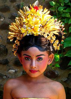 Legong Dancer  Pura Goa Lawah, Bali, Indonesia 2010