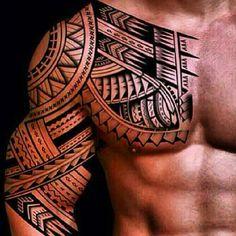 Samoan Tattoos for Men tattoos t Maori Shoulder tattoo Tribal Chest Tattoos, Tribal Tattoos For Men, Trendy Tattoos, Tattoos For Guys, Kurt Tattoo, Hawaiianisches Tattoo, Samoan Tattoo, Maori Tattoos, Filipino Tattoos