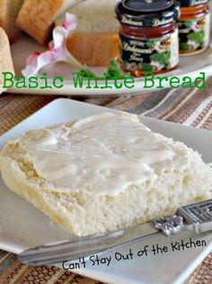 Basic White Bread - wonderful #breadmaker #bread recipe - turns out perfect every time! Makes a 2-lb. bread loaf - via Can't Stay Out of the Kitchen