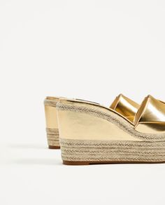 Image 6 of GOLDEN JUTE WEDGES from Zara Zara United Kingdom, Summer Maxi, Jute, Dress Outfits, Espadrilles, Wedges, Pairs, Shoes, Collection