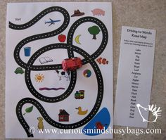 Busy Bag learning game Driving Cars  first by CuriousMindsBusyBags, $5.50