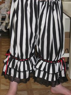 DDNJ Steampunk Gothic Pirate Gypsy Bloomers Pantaloons Cosplay Larp Anime Lolita Custom Made Your Measurements. $55.00, via Etsy.
