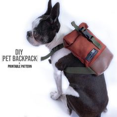 Hundetasche DIY + Druckbares Muster, The Effective Pictures We Offer You About baby Stuffed Animals A quality picture can tell you many things. Diy Projects Videos, Diy Sewing Projects, Sewing Projects For Beginners, Sewing Tutorials, Sewing Patterns, Diy Videos, Dog Backpack, Dog Bag, Backpack Pattern