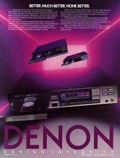 Vintage audio cd player collection - 1001 Hi-Fi Denon Hifi, Vintage Advertisements, Vintage Ads, Best Hifi, Digital Filter, Audio Room, Home Technology, Hifi Audio