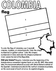 learn the colors of the flag of colombia as well as the capitol of this colombia countrycolombia flagspanish