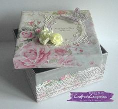 6x6 Card. Made using Sara Signature Shabby Chic Collection Designed by Nicole Preston #crafterscompanion