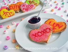 Valentine's Day Breakfast - Heart Toast